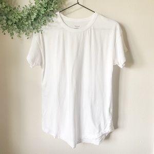 Madewell Whisper Cotton Ringer Tee in White